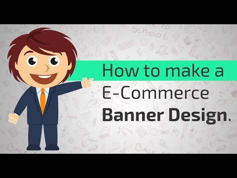 How to make a E-commerce banner Design.