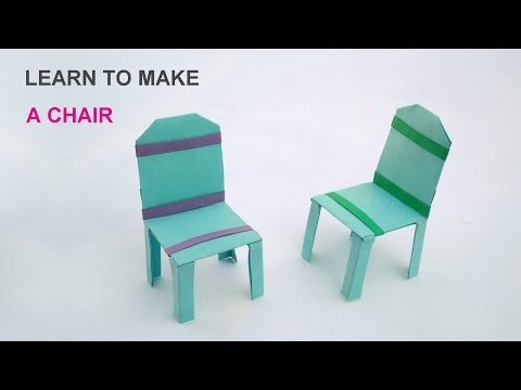 Learn to make a paper chair easy steps