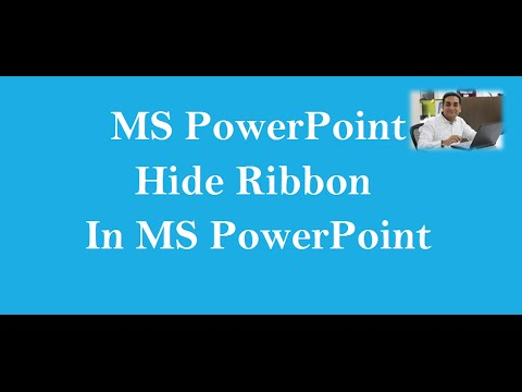 Hide Ribbon In MS PowerPoint