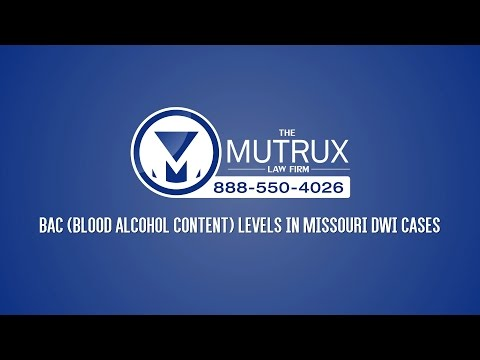 BAC Level in Missouri DWI Cases