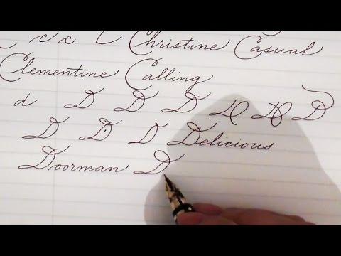 Write cursive with Schin: A, B, C, D, E, F