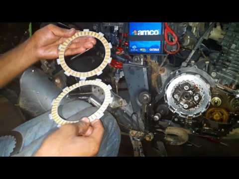 How to change clutch plates motorcycle - Yamaha Fazer - bullet singh boisar