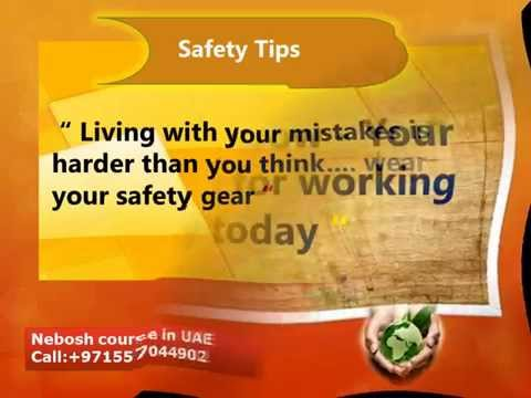 safety slogan - Nebosh course in UAE