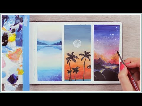 Acrylic Painting Ideas for Beginners   How to Blending Techniques   Art Journal Thursday Ep. 41