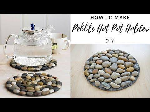 DIY - How To Make Pebble Hot Pot Holder - Stone Mat - EASY TUTORIAL