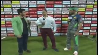 Shoib Akhter & M.Aamir Funny Conversation    PakVSBang Match