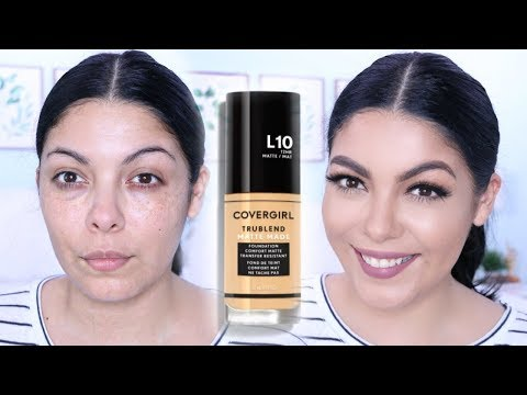 NEW! COVERGIRL TRUBLEND MATTE MADE DRUGSTORE FOUNDATION REVIEW + FIRST IMPRESSIONS | SCCASTANEDA