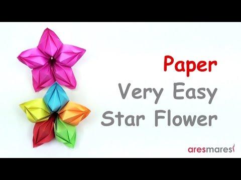 Paper Very Easy Star Flower (easy - modular)