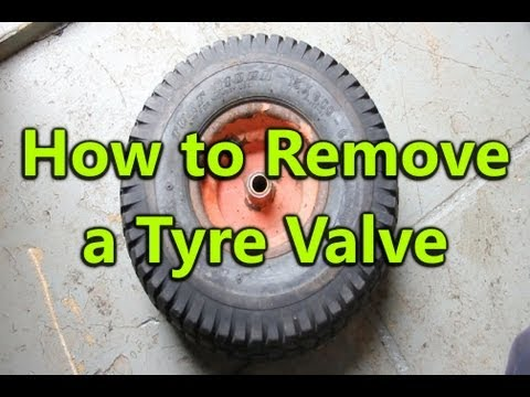 How to Remove a Tyre Valve from a Wheel