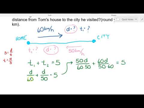 Year 8 Math - Speed Distance Time Problem