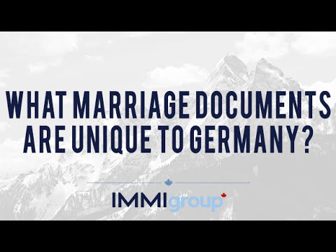 What marriage documents are unique to Germany?