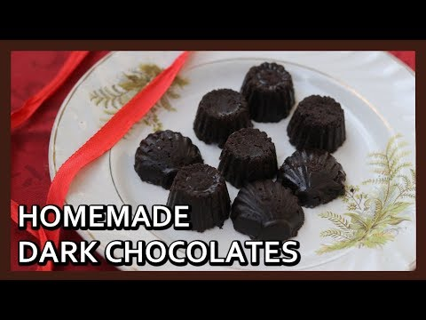 Homemade Dark Chocolate Recipe using Cocoa Powder | Valentine Special | Healthy Kadai