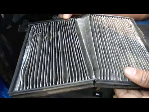 how to clean a cabin air filter in ford figo