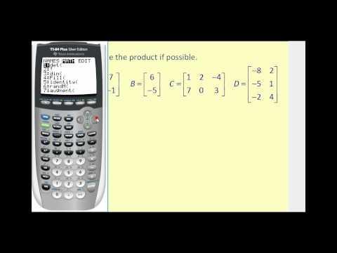 Matrix Multiplication on the TI83/84