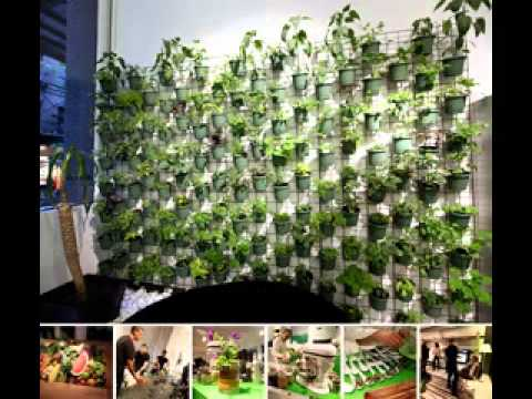 Vertical window garden design