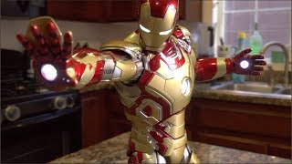 IRON MAN 3 HOT TOYS MARK XLII 42 POWER POSE SERIES REVIEW