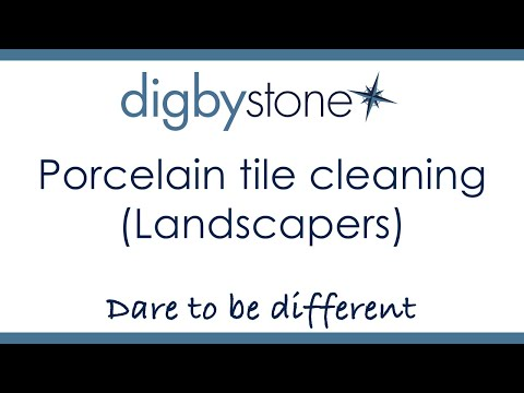 Digby Stone  - Porcelain tile cleaning (Landscapers)