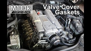 How to Replace Valve Cover Gaskets on a Mercedes E55 AMG - M113k Engines (CLS55, SL55, S55, G55)