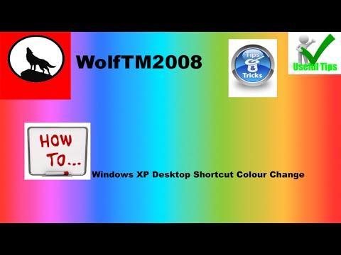 Windows XP Tutorial - How to Change Desktop Shortcut Text Colour