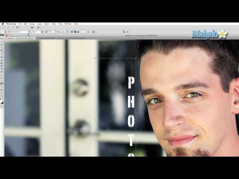 Learn Adobe Photoshop - Vertical Type Tool