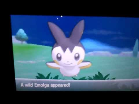 Shiny Emolga In Friend Safari After Just 22 RE's In Pokemon Y and  ( First on Youtube )
