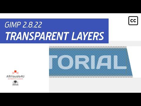 GIMP Tutorial - General #8 - How to make layers transparent