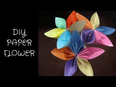 how to make paper flower.Origami Kusudama flower.