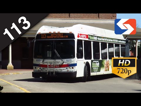 SEPTA Ride: 2010 New Flyer DE40LFR #8371 on route 113 to Tri-State Mall