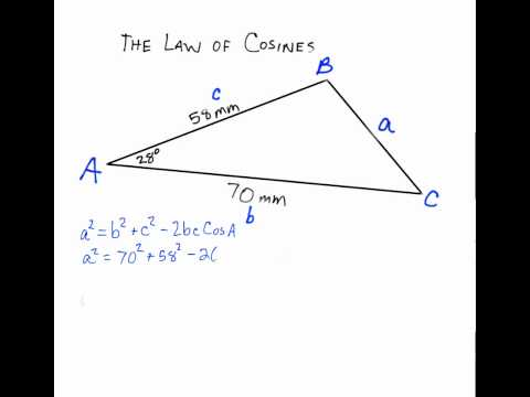 Using the Law of Cosines (SAS) to Solve a Triangle