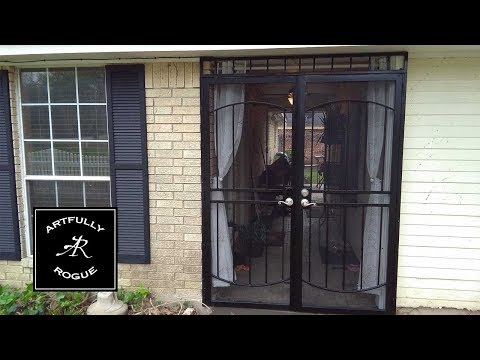 Installing a double security gate