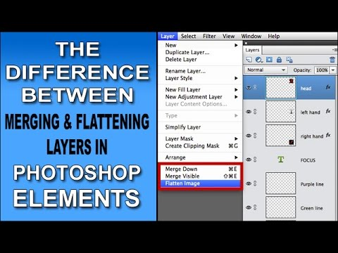 The Difference Between Merging And Flattening Layers in Photoshop Elements
