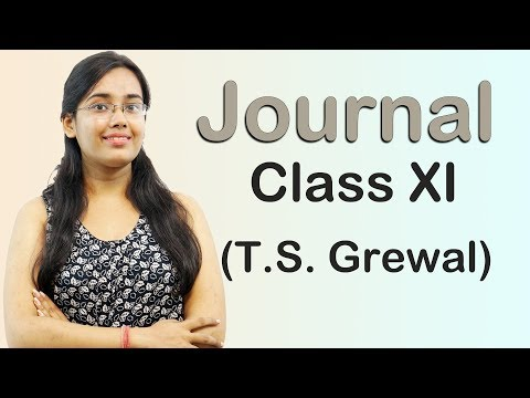 JOURNAL - Simple And Compound Journal Entries  (Accounts Class 11th)