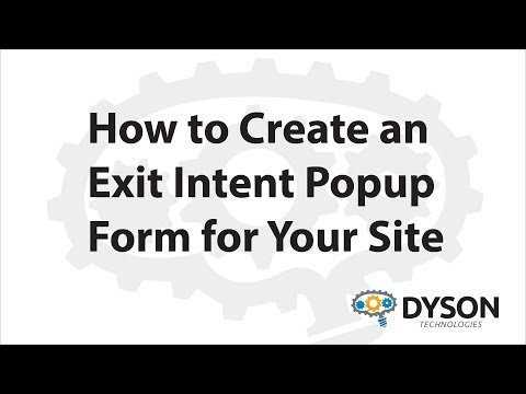 How to Create an Exit Intent Popup Form for Your Website using Mautic