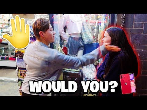 WOULD YOU SLAP 🖐 YOUR GIRLFRIEND FOR AN iPHONE 11?!? THE RESULTS!
