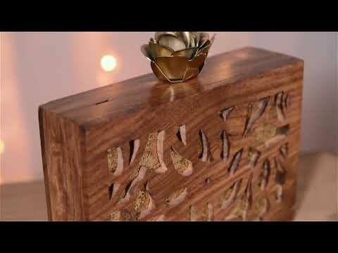 Wooden Clutch - Tan