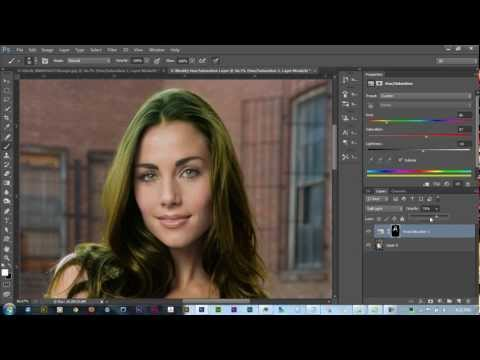 How To Change Hair Color in Photoshop CS6 | Photoshop Tutorial