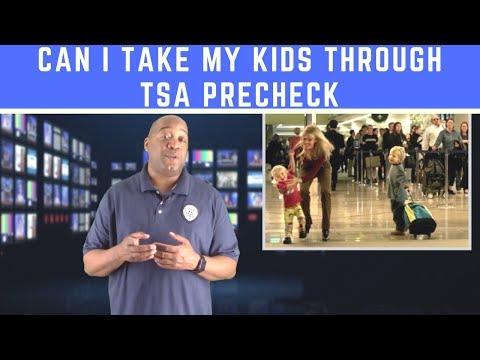 Can My Kids Go With Me Through TSA Precheck | Airport Security TSA