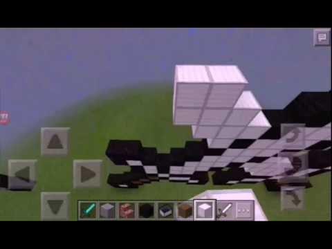 Build a double iron sword in minecraft pe