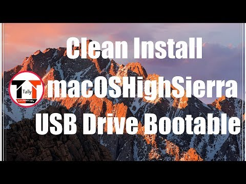 How to create macOS High Sierra bootable USB Install drive for clean installation