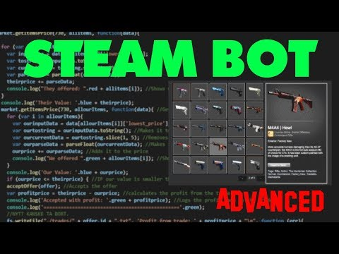 How to make a steambot (Market API)
