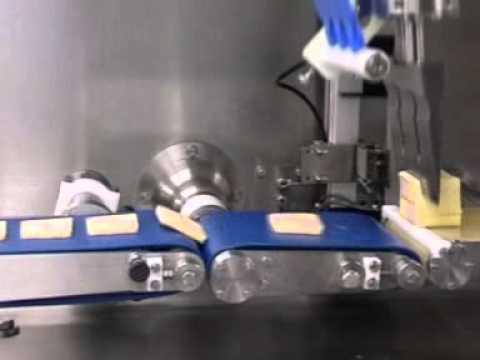 newtech- in-line ultrasonic slicing of battenburg cake