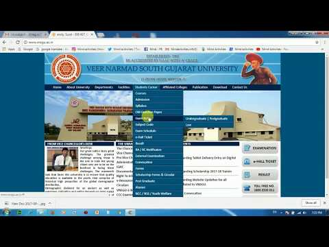 How to fill online form of degree certificate of VNSGU university ??
