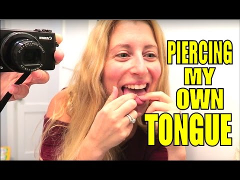 PIERCING MY OWN TONGUE