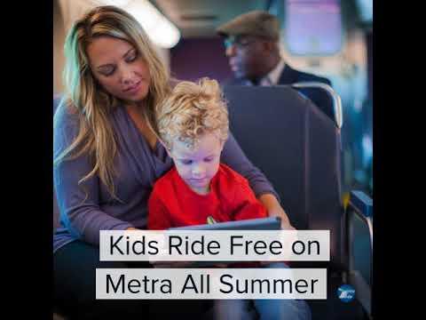Kids Ride Free on Metra
