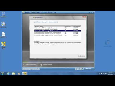 Setting Up VMware Player and Server 2008
