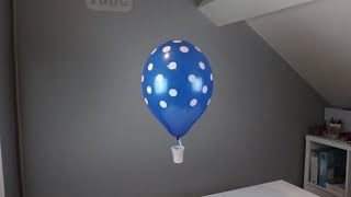 HOW TO MAKE A  HOT AIR BALLOON WITH HELIUM BALLOON  (MONTGOLFIER)