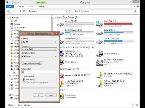 Windows 8 - Format Disk