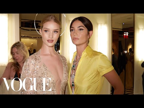 Supermodel-BFFs Lily Aldridge and Rosie Huntington-Whiteley Get Ready for the Met Gala | Vogue