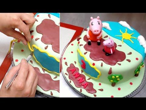 How To Make a Peppa Pig Cake by Cakes StepbyStep