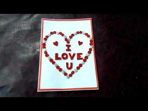 Valentine card   beautiful Valentine card  hand made Valentine card   simple Valentine card